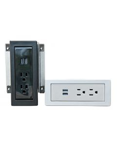 Power panels in black and silver colors