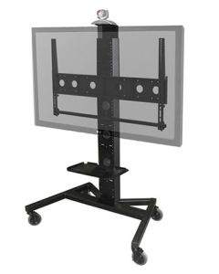 Large Mobile Display Stand for Single/Dual Monitors